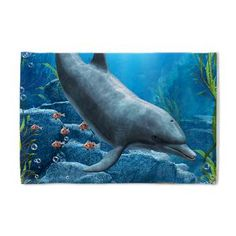 The World Of The Dolphin ~ Pillow Case - A proud dolphin swims in the ocean! A wonderful underwater scene, with fishes, a turtle and more!  €20.50  thanks to the customer!