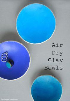 DIY air dry clay bowls- cute easy project.