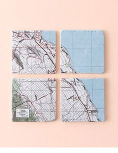 Cool map coasters of your town!