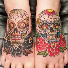 16 Phenomenal Sugar Skull Tattoos | Tattoodo.com