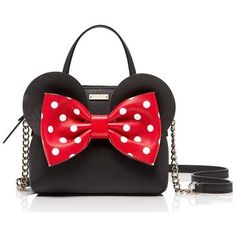Kate Spade Kate Spade New York For Minnie Mouse Mini Maise (805 BRL) ❤ liked on Polyvore featuring bags, handbags, bolsos, purses, red, satchels, mini crossbody purse, kate spade purses, leather satchel purse and leather tote handbags
