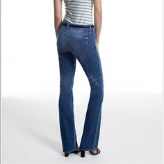 Genetic denim NWT TODAY ONLY!!! Size 27 Hepburn Vintage High Rise Flare color is 'Villa' Genetic Denim Jeans