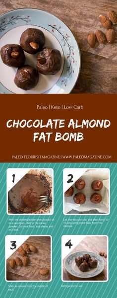 Chocolate Almond Fat Bomb Recipe [Paleo, Keto, Low Carb] #paleo #recipes #glutenfree http://paleomagazine.com/chocolate-almond-fat-bomb-recipe-paleo-keto-lowcarb