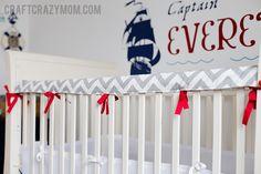 Crib Teething Rail Guard | Tutorial - looks cute!... I need to get my sewing machine back from my mom, haha.