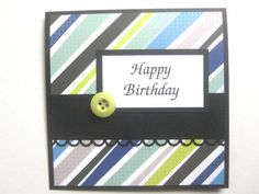 Handmade Happy Birthday card for male by BellaCardCreations, $3.75