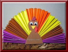 Thanksgiving turkey paper craft for kids