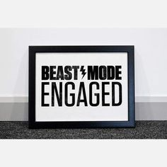 Beast Mode Engaged Print featured on Fab. Love Fitness, Fitness Tips, Motivation Wall, Fitness Motivation, Shut Up And Squat, Way Of Life, Beast Mode, Happy Thoughts, Healthy Tips