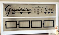 Old window picture frame for grandparents by WritingOnTheWindow