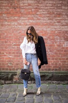It's the subtle tweaking of a jean that can update your entire look, try a cropped asymmetrical hem. www.stylestaples.com.au:
