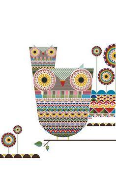 owl wallpaper by Katharina Leuzinger