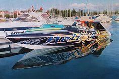 Speedboat Ölgemälde