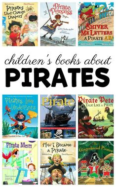 More than 10 children's books about pirates. Perfect for a kindergarten or preschool pirate them, or kids who are obsessed with pirates. Preschool Pirate Theme, Pirate Activities, Preschool Books, Preschool Lessons, Book Activities, Preschool Activities, Summer Preschool Themes, Summer Themes, Preschool Teachers
