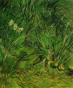 Two White Butterflies - Vincent van Gogh . Created in Arles in Spring, Located at Van Gogh Museum. Find a print of this Oil on Canvas Painting Art Van, Van Gogh Art, Vincent Van Gogh, Van Gogh Museum, Dutch Artists, Famous Artists, Renoir, Claude Monet, Desenhos Van Gogh