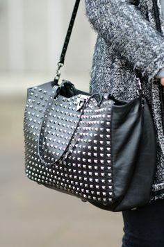 When your looking for a school bag, I would suggest a purse with a cross strap and something big enough to a hold a couple binders. ~ This purse would make a perfect school bag!