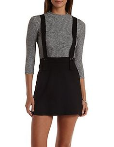 A-Line Suspender Mini Skirt
