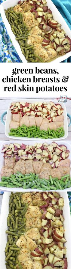 Easy dinner recipe alert! This sheet pan chicken, green bean and red skin potatoes recipe is an easy weeknight meal. 17 sp on Freestyle.