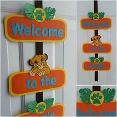 Lion King Door Sign Guard Simba Kion