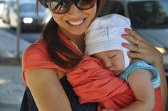 the sling diaries: jen and dashiell babywearing fun! #sakurabloom