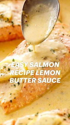 Easy Salmon Recipes, Easy Dinner Recipes, Healthy Fish Recipes, Seafood Recipes, Low Carb Recipes, Cooking Recipes, Salmon Dishes, Fish Dishes, Seafood Dinner