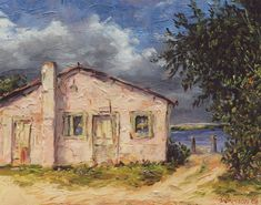 """""""Apalach. Oyster House"""" Fl. Charles Dickinson oil painting"""
