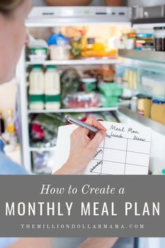 5 easy steps for successful monthly meal planning! When it comes to meal planning, there are countless benefits from financial to health!