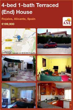 4-bed 1-bath Terraced (End) House in Rojales, Alicante, Spain ►€199,900 #PropertyForSaleInSpain