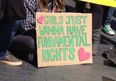 Because protest signs can be powerful and funny at the same time