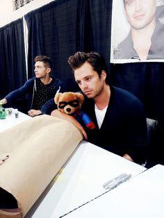 Sebastian and Bucky Bear
