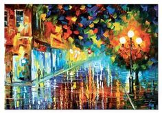 Lonely Night - Artist: Leonid Afremov