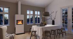 Bilderesultat for nordpeis Pellet Stove, Dining Room, Dining Table, Stockholm, Wood Burning, Decoration, Scandinavian, Modern, Furniture