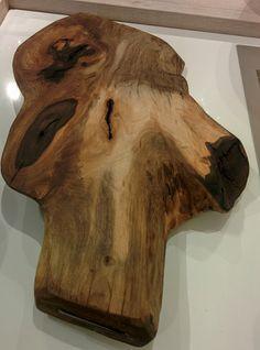Taglieri in legno rustici (tronco legno Noce)
