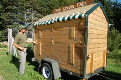 We feel particularly fortunate to be writing this post for we know that many seasoned and aspiring farmers would love to visit Four Season Farm, home of Barbara Damrosch and Eliot Coleman. Market Stands, Market Displays, Eliot Coleman, Mobile Workshop, Vegetable Stand, Produce Stand, Flower Truck, Farm Store, Soap Display