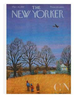 NOVEMBER  The New Yorker Cover - March 26, 1955 Poster Print by Edna Eicke at the Condé Nast Collection