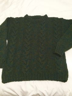 Man's Arran cable hand knit pullover