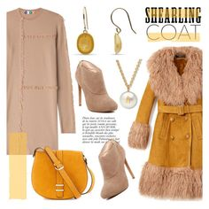 """""""Sweet Shearling Coats"""" by littlehjewelry on Polyvore featuring moda, Gucci, MSGM, Nine West, Neiman Marcus, Anja, contestentry, autumnstyle, pearljewelry e shearlingcoat"""