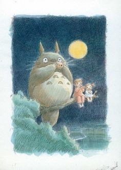 Amazon.com - My Neighbor Totoro Movie Poster Print - Anime Poster