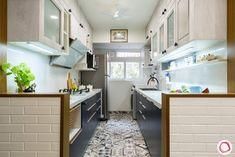 Parallel Kitchen Design, Simple Kitchen Design, Kitchen Room Design, Home Room Design, Interior Design Living Room, Kitchen Decor, Kitchen Designs, Kitchen Modular, Smart Kitchen