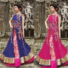 Multicolour Indowestern Gowns  Available with us  Watsapp - +91 9930777376 Email -  fashioncloset06@gmail.com Or DM for enquiries
