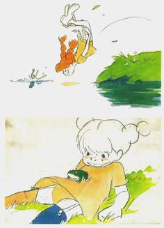 Hayao Miyazaki - concept art for an anime adaptation of Pippi Longstocking (project dropped)