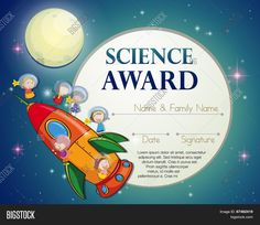 Science Fair Award Certificates New Science Award Stock Vector Image Certificate Layout, Education Certificate, Birth Certificate Template, Award Certificates, School Certificate, Fun Awards, Teacher Awards, Baby Dedication Certificate, Award Template