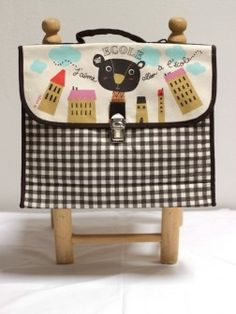 Girls French School Backpack, retro style!