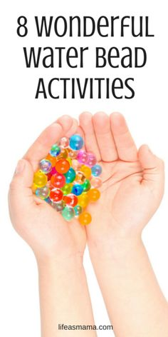 Have a bag full of water beads you don't know what to do with? Well fill 'em up and then check out these activities to keep your kids happy!