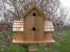 Cedar Birdhouse With 6 Seperate Compartments...cedarnest Handmade