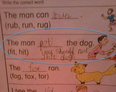 29 Awesomely Fun Incorrect Test Answers From Kids: The Dog