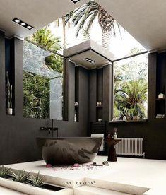 Loft Interior, Modern Interior Design, Style Deco, Bathroom Design Luxury, Dream Home Design, Beautiful Bathrooms, Luxurious Bedrooms, Architecture Design, Interior Decorating
