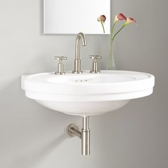Cruzatte Porcelain Wall-Mount Sink