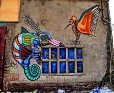 Germany Alte Gussfabrik in Zwickau IBUg 2013 - El Präsidente Tasso - www.ta55o.de  The artists of the graffiti image: Elmar Karla  - www.elmarkarla.de