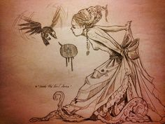 A selection of illustrations and paintings by American artist Chiara Bautista, based in Tucson, Arizona. A dreamlike and poetic universe, dark but beautiful, il Art And Illustration, Illustrations, Chiara Bautista, Drawing Sketches, Art Drawings, Character Art, Character Design, Art Et Design, Save The Last Dance