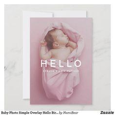 Baby Announcement Wording, Baby Gender Announcements, Unique Baby Announcement, Baby Girl Birth Announcement, Birth Announcement Photos, Hello Pictures, Foto Baby, Biro, Baby Design