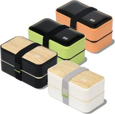 AmazonSmile: The Original Bento Box +FREE Fun Lunch Notes, Cutlery, Chopsticks, 4 Color Options - by BentoHeaven - Leakproof Premium Reusable Food Container for Adults & Kids (Bamboo White): Kitchen & Dining
